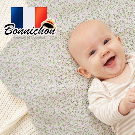 [Bonnichon]프랑스 보니숑 신생아 더블블랭킷/그린플라워/유모차 아기담요/신생아용품/출산선물