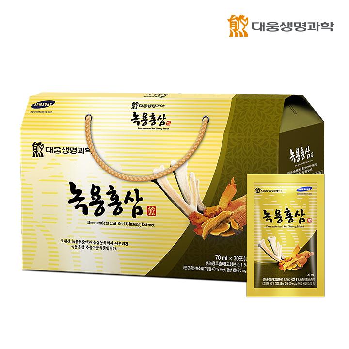 대웅 녹용홍삼70mlX30포 -1세트