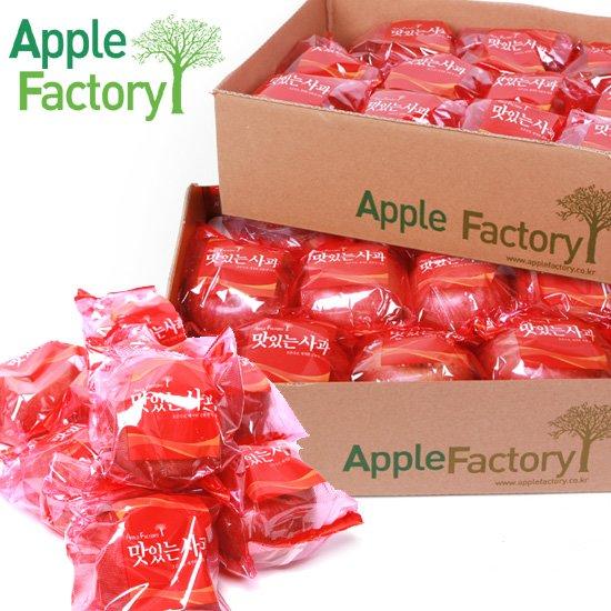 애플팩토리 1+1 껍질째 먹는 봉지 세척사과 2.5kg+2.5kg 20과 내외