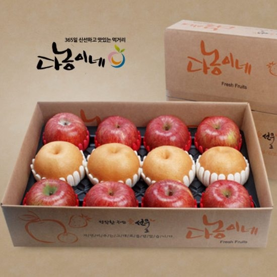 [과일향기] 사과 배 혼합선물세트 5호[사과8과+배4과]