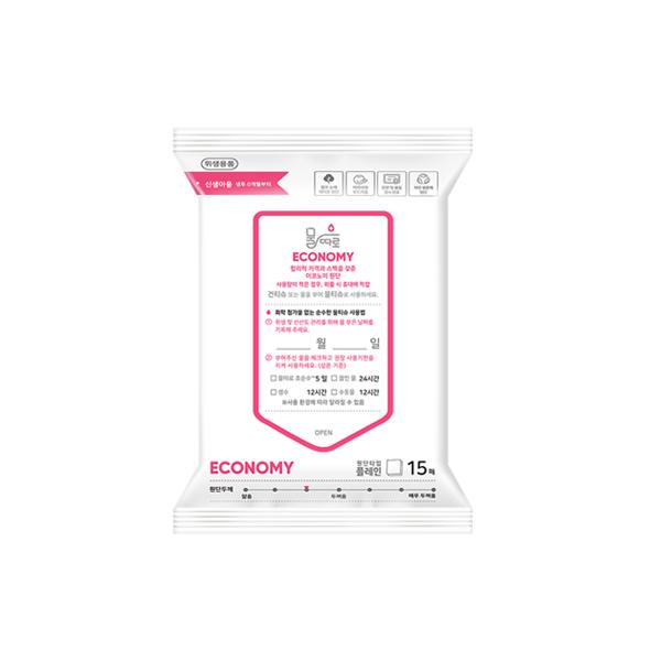 물따로 건티슈(물 없음) 이코노미 휴대용 (15매/42팩)