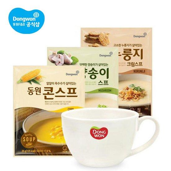 동원 풍부한 스프 3종 30개 머그컵증정 무료배송
