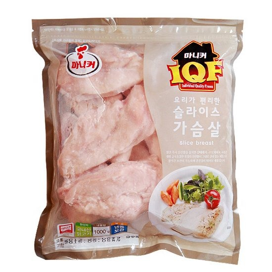 마니커 IQF 가슴살 슬라이스 1kg