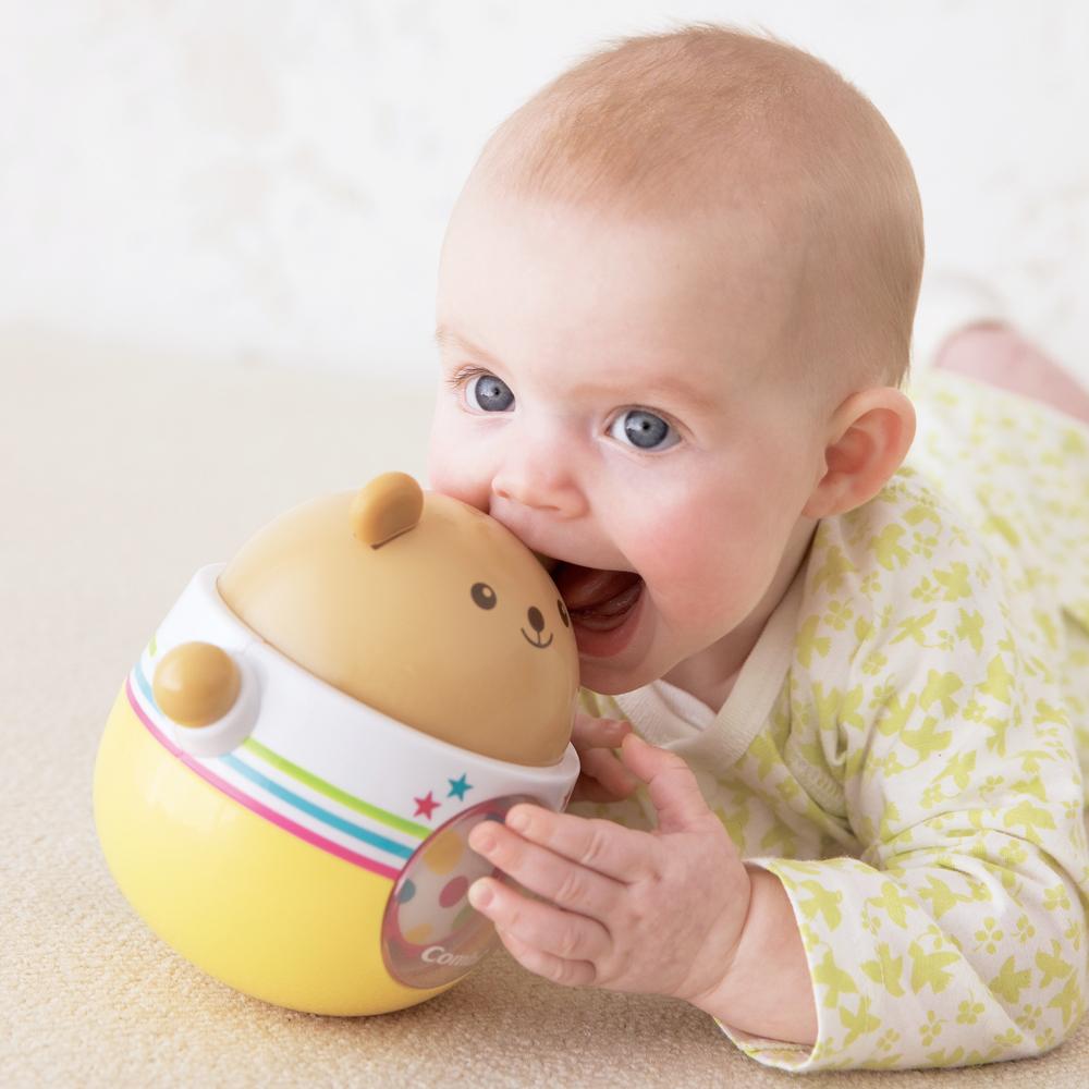 콤비 둥글둥글 곰돌이 아기 오뚝이 장난감