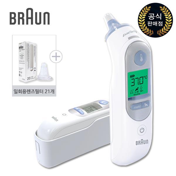 브라운 귀적외선 체온계 써모스캔 IRT6520 + 일회용 렌즈필터 21