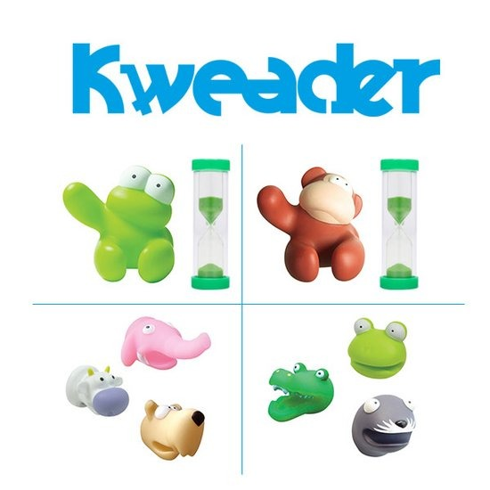 [크웨더]멀티홀더+모래시계개구리,원숭이 택1+칫솔홀더3P동물,