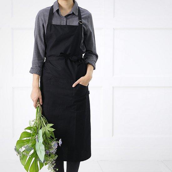 [홈앤하우스] 심플 블랙 앞치마
