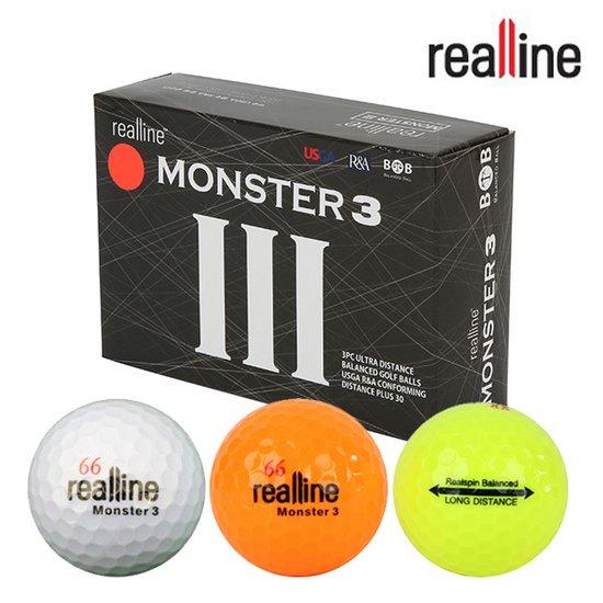 리얼라인 MONSTER-3 몬스터3 골프공6알/골프용품