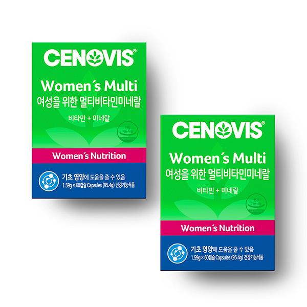 세노비스 여성용 멀티비타민미네랄 60캡슐/60일분 x 2개 세트