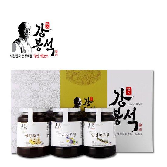 떠먹는 조청선물세트 도라지/생강/인진쑥조청 600g3