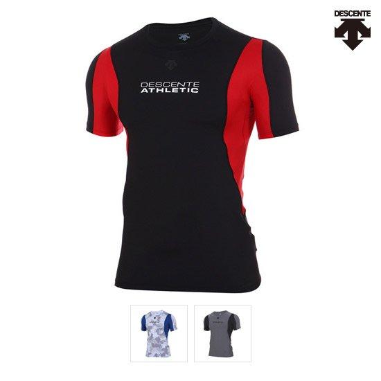 데상트   40% OFF 남성 익스트림 트레이닝 벡터 레귤러 반팔 컴프레션 티셔츠 S7221TCO17