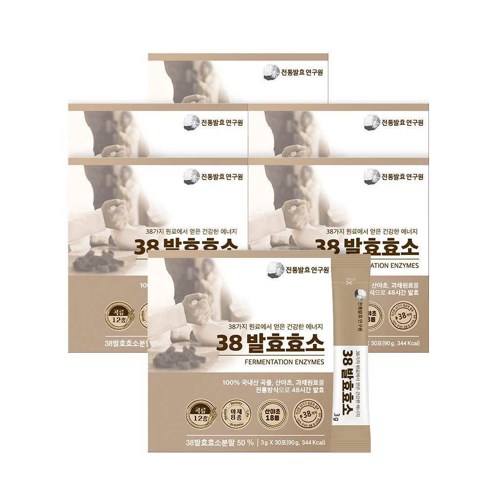 최진규의 38 발효효소 6박스3gx30포x6박스