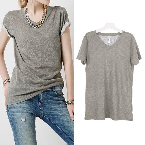 더블유 썸머 V넥 티셔츠
