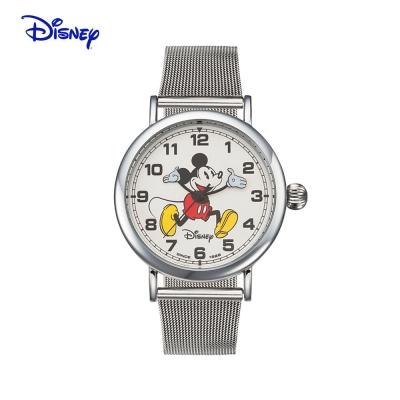 텐바이텐 스위스밀리터리 디즈니 미키마우스 커플 메탈밴드 손목시계 OW095SV