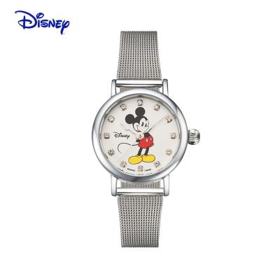 텐바이텐 스위스밀리터리 디즈니 미키마우스 여성 메탈밴드 손목시계 OW096SV