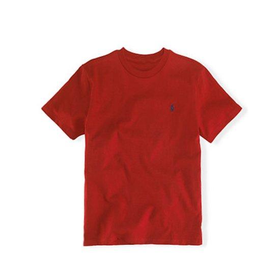 폴로랄프로렌 맨즈 라운드 반팔 티셔츠 레드 남녀공용 Polo Ral