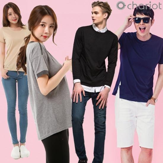 [채리어트]남여 홈쇼핑 인기 기본티셔츠 46종택1