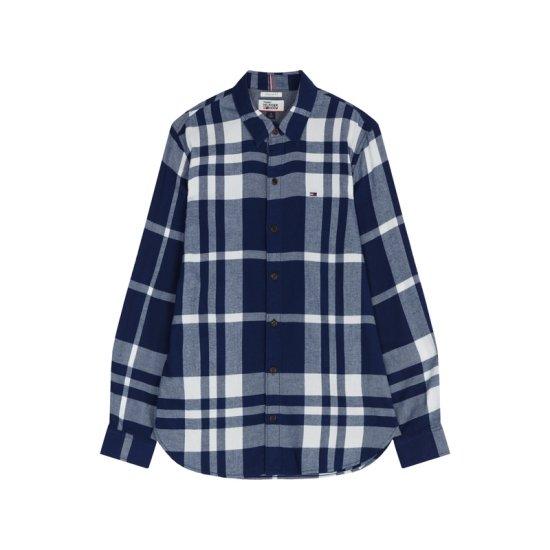 타미힐피거진 남성 레귤러핏 플란넬 체크 패턴 셔츠 TJMR3HCE42D0 B48