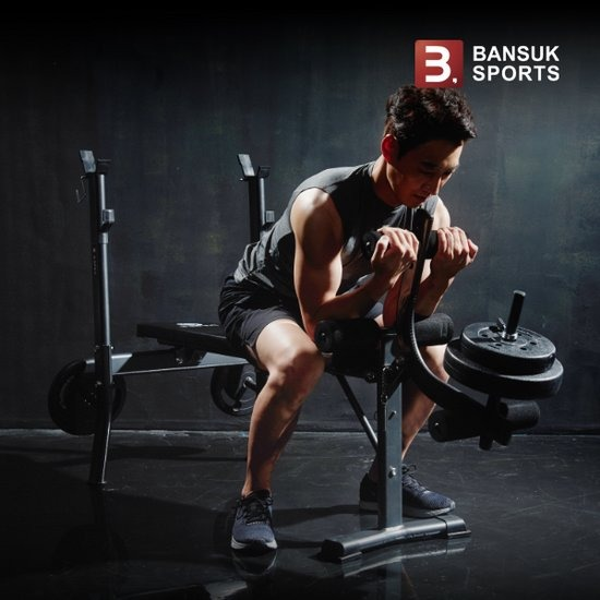 [반석스포츠] BC101벤치 PVC바벨 30kg세트/역기봉포함/벤치프레
