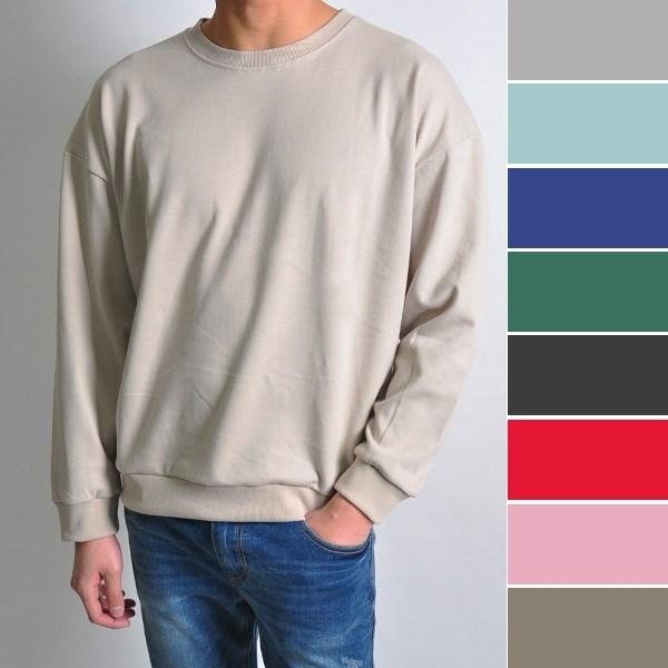 [하프클럽/ALL-JEAN]ID7500 오버핏 남자 맨투맨티셔츠 15컬러