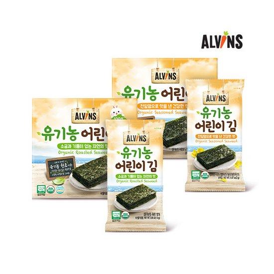엘빈즈 유기농 어린이 김 1BOX