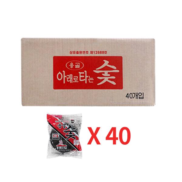꾸버스 아래로타 용골숯 1P 1box 40봉