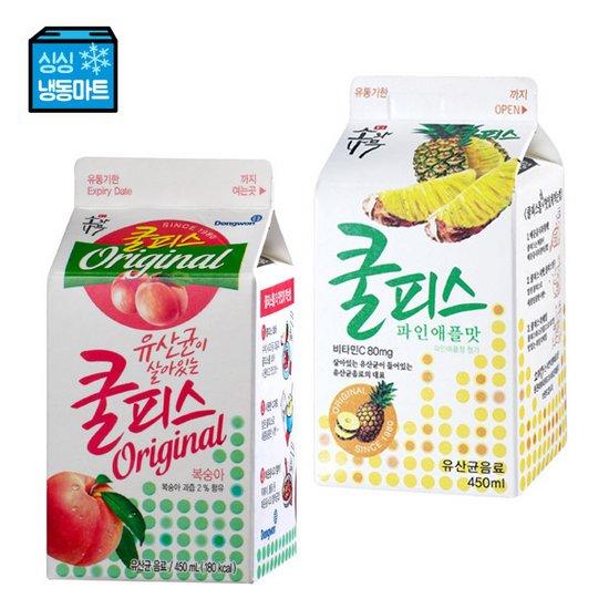 [싱싱냉동마트]쿨피스 복숭아/파인 450mL