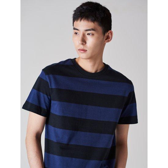 에잇세컨즈  로열 블루 볼드 티셔츠 458242TY3N