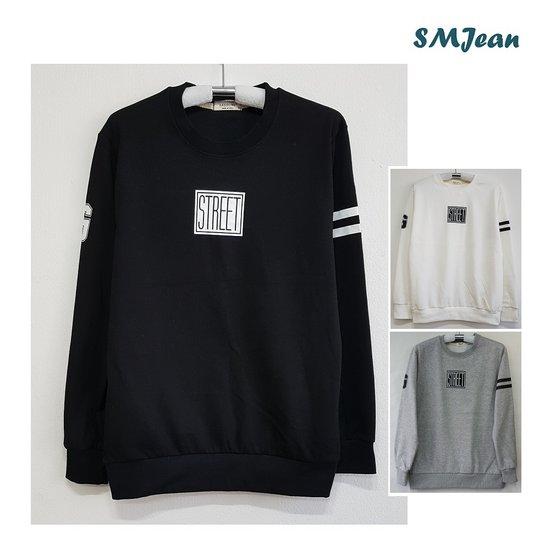 SMJ455s 스트리트 맨투맨 라운드 남자 긴팔 티셔츠 남성 긴팔티