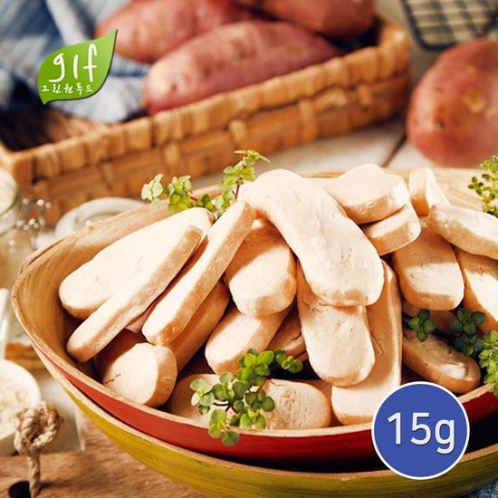 유기농 백미자색고구마 떡쌀과자 15g /휴대용