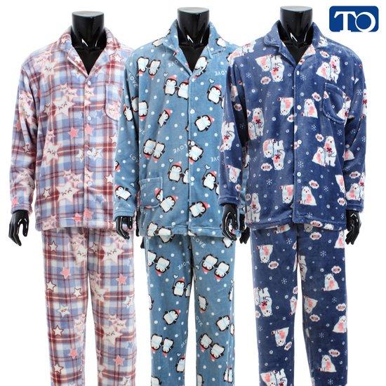 [쁘띠쁘랑]남성 카라 수면 잠옷 세트 27842-27844/겨울 잠옷