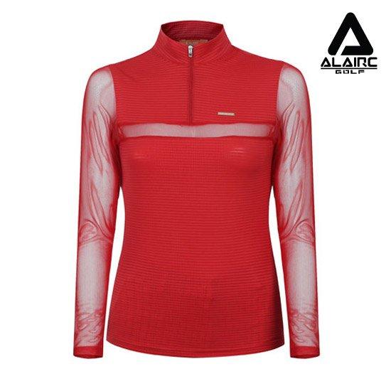 알레어 골프  여성 가슴 절개 매쉬 티셔츠