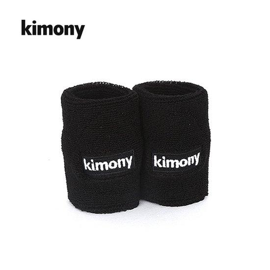 키모니 스포츠 2단 손목밴드블랙 2개입 손목아대