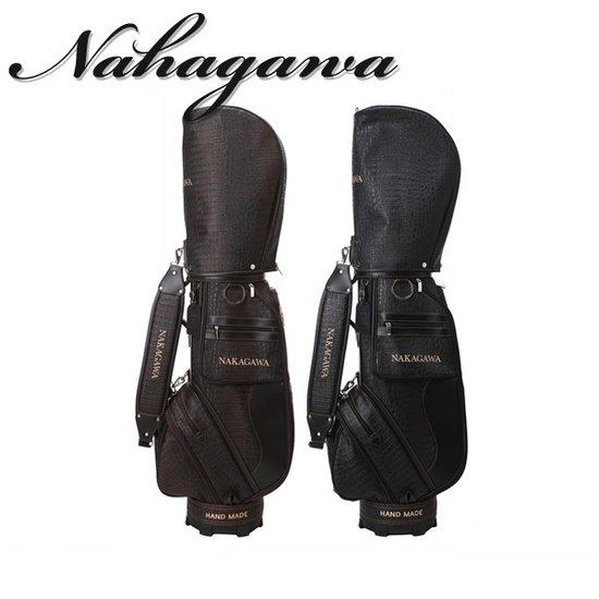 나카가와 남성 악어무늬원단 캐디백 - NK-11M-CB