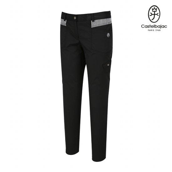 까스텔바작 골프 여성 블랙 오비배색 카고팬츠 BG6MPT705BK