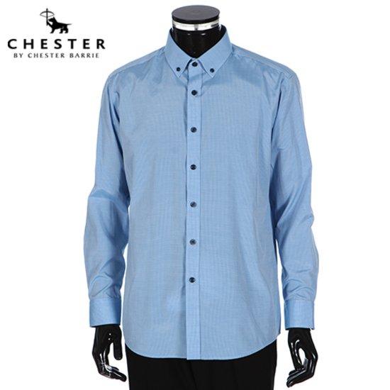 [체스터베리]면혼방 사각체크 클래식 드레스셔츠.YDL15502
