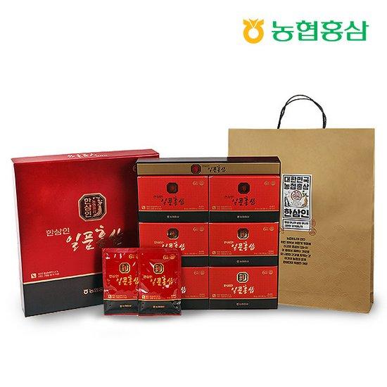 한삼인 일품홍삼 70ml 30포 1세트 + 쇼핑백포함