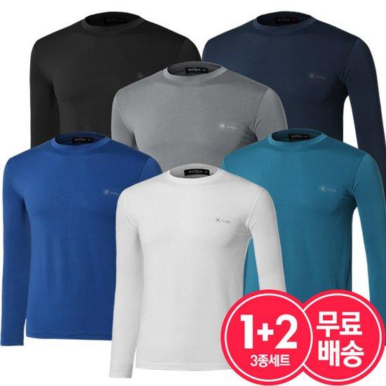 [3종세트]봄여름 남자 기능성 쿨링 1+2 티셔츠 무료배송