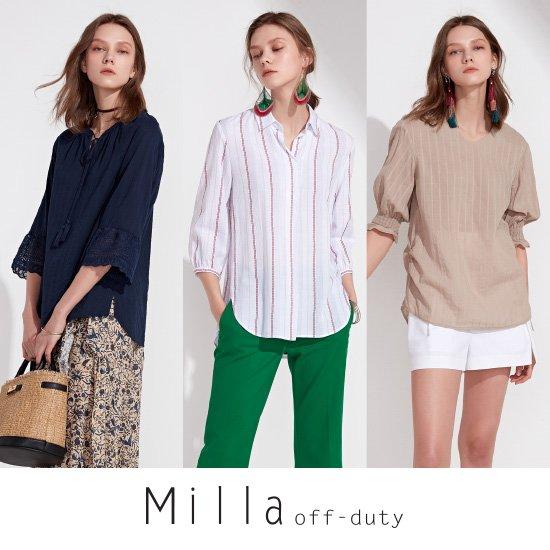 [밀라] MILLA 썸머 코튼블라우스 3종