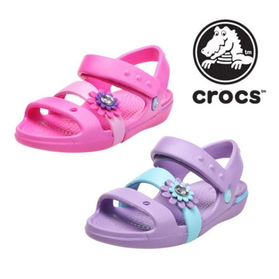 크록스CROCS KEELEY PETAL CHARM SANDAL PS 2종 택1