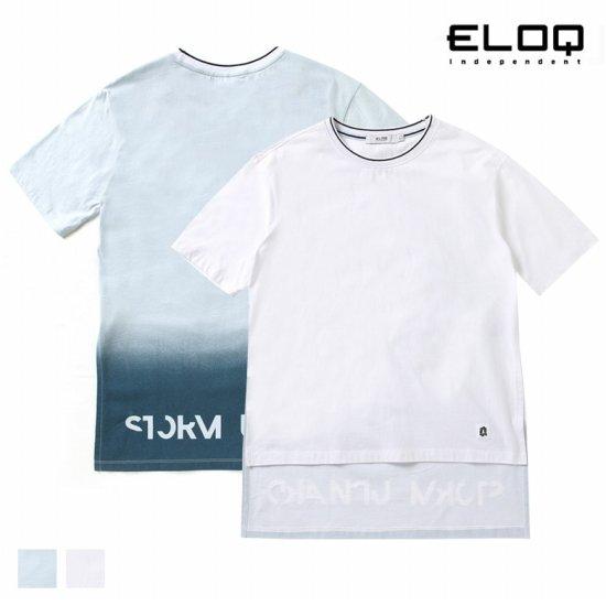 ELOQ 여성 그라데이션 언밸런스 롱 티셔츠B164MTS157W