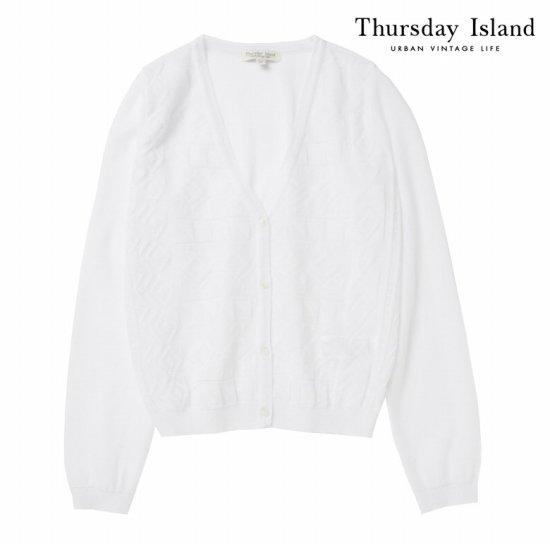 Thursday Island 여성 시스루 숏 가디건T164MCD235W