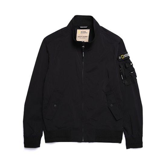 내셔널지오그래픽 N181MJP950 남성 봄버 점퍼 블루종 자켓 BLACK