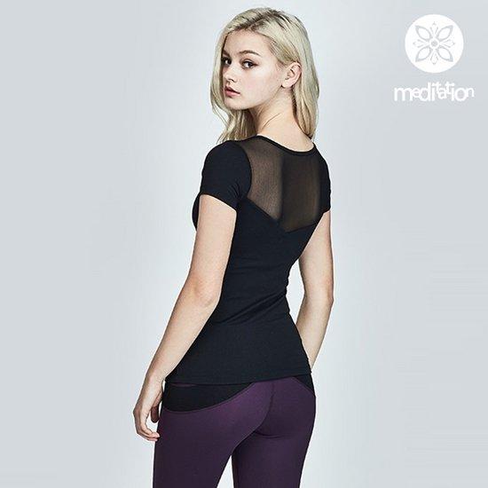 [메디테이션]TS7058 블랙 여성 요가복 운동복 티셔츠