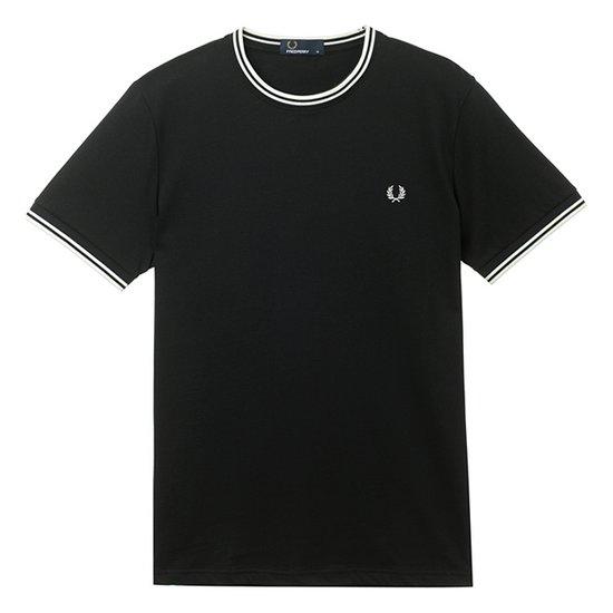 프레드페리 본사 Twin Tipped T-Shirt AFPM1811588-102