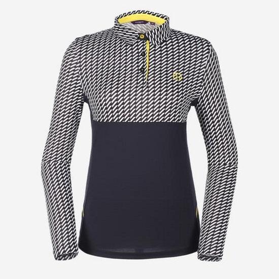 헤지스골프 여성 블랙 QUICK DRY 카라 티셔츠 HWTS7A114BK