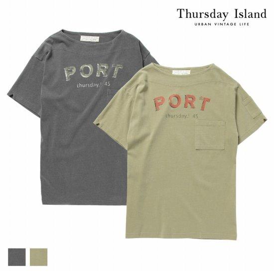 Thursday Island 남성 그래픽 포켓 반팔 티T164MTS201M