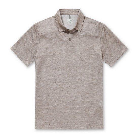 Henry Cotton's  블랜드 린넨 카라 티셔츠 AHTAM17661CMX