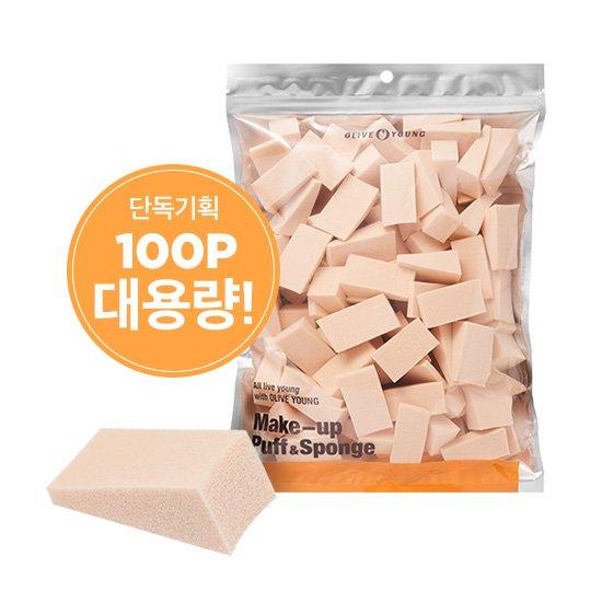 [온라인단독] 올리브영 메이크업조각퍼프(100P)