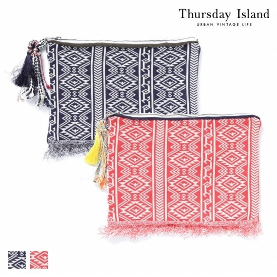 Thursday Island 여성 패턴 니트 클러치백T164MBP235W
